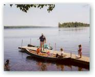 Lake Molunkus Sporting Camps' four docks allow room for everyone to enjoy their water sports. There are canoes, kayaks and paddleboats available.